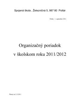 Organizačný poriadok - Spojená škola Poltár