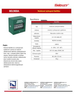 BEL900A Núdzové výstupné tlačítko