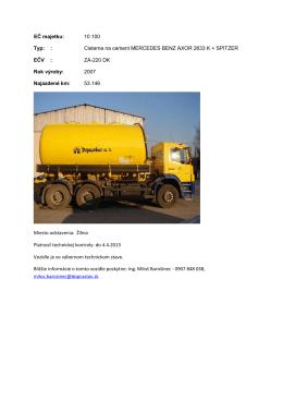 Cisterna na cement MERCEDES BENZ AXOR 2633 K +