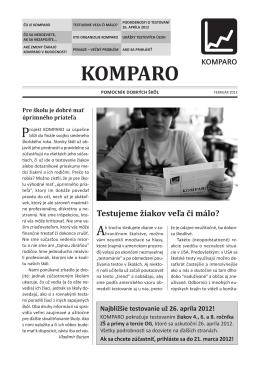 KOMPARO - Základná škola s materskou školou Likavka