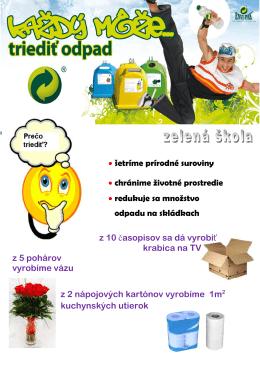 • šetríme prírodné suroviny • chránime životné