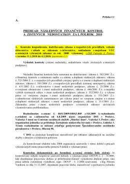 Príloha č.1 - Prešovský samosprávny kraj