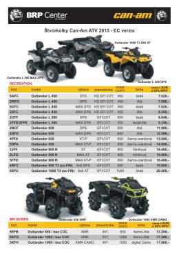 Štvorkolky Can-Am ATV 2015 - EC verzia