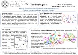 Diplomová práca - Katedra dopravných sietí