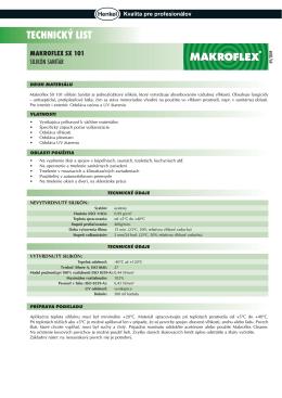 technický list makroflex sx 101