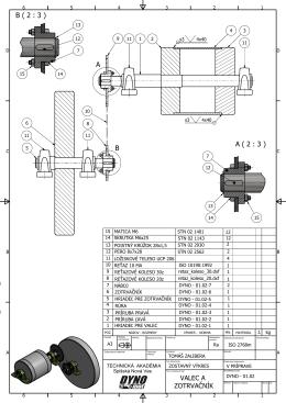 zostava - valec - zotrvačník - strojar