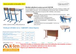 Akcia november až december 2013