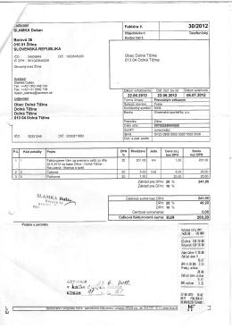 SLAMKA Dušan Borová 36 010 01 Žilina SLOVENSKÁ REPUBLIKA