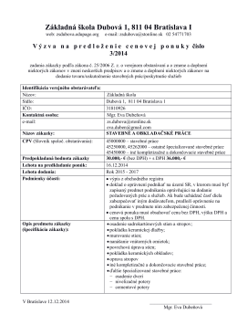 Základná škola Dubová 1, 811 04 Bratislava I