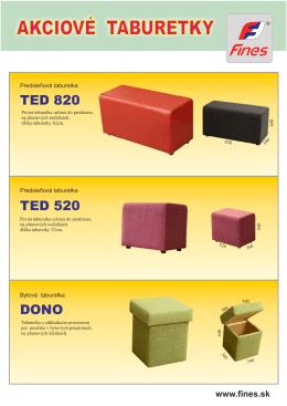 Taburetky TED a DONO