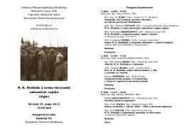M. R. Štefánik a česko-slovenské zahraničné vojsko (légie)