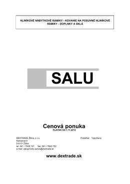 SALU rámiky - Dextrade Žilina, sro