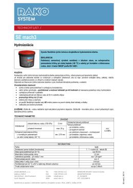 Hydroizolačná stierka SE MACH3 (pdf, 278 kB)