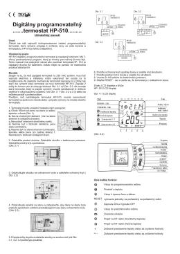 Digitálny programovate¾ný .......termostat HP-510
