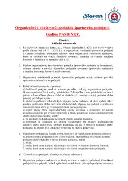 Organizačný a návštevný poriadok 2014
