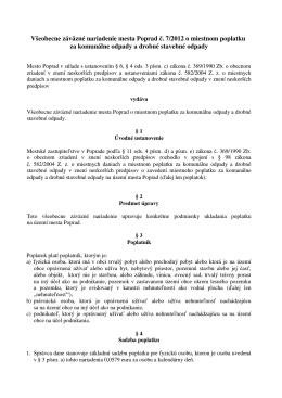 (VZN \350_7_2012 o miestnom poplatku za komun\341lne odpady a