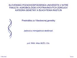 A A - Slovenská poľnohospodárska univerzita v Nitre