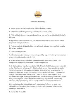 Obchodné podmienky 1. Torty a zákusky sa objednávajú osobne