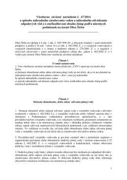 Všeobecne záväzné nariadenie č. 47/2014 o spôsobe