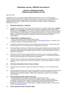 "Podmienky servisu ""SERVICE all-inclusive"" Záruka a"