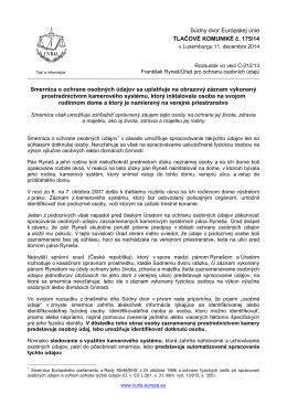 Súdny dvor Európskej únie TLAČOVÉ KOMUNIKÉ č - curia