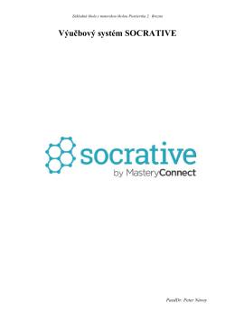 Návod_Výučbový systém SOCRATIVE - Základná škola s materskou