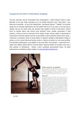 Časopis Eva 01/2011 o Pole Dance Academy
