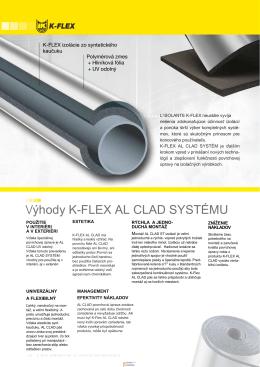 Výhody K-FLEX AL CLAD SYSTÉMU