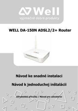 WELL DA-150N ADSL2/2+ Router