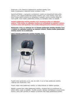 Detská jedálenská stolička Healthy Care - Service