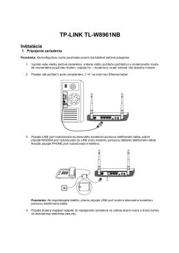 TP-LINK TL-W8961NB Inštalácia