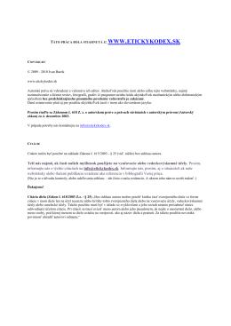 Etika vo vede - EtickyKodex.sk