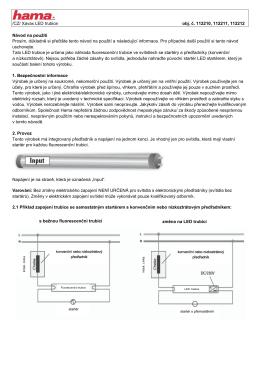 /CZ/ Xavax LED trubice obj. č. 112210, 112211, 112212