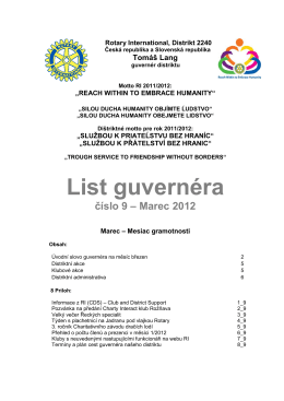 List guvernéra číslo 9 – Marec 2012