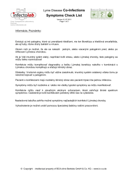 Koinfekcie - Borelióza.sk