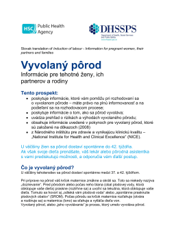 Vyvolaný pôrod - Western Health and Social Care Trust