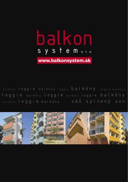 výhody systému - balkonsystem sro