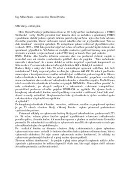 Ing. Milan Staňo – starosta obce Horná Poruba Milé dámy