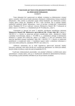 Usmernenie pre konverziu písomných dokumentov na elektronické