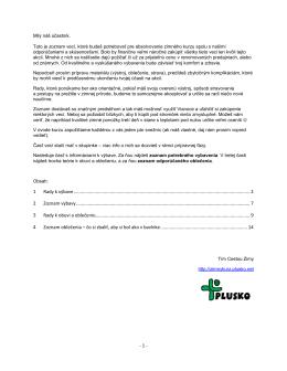 pdf dokument so zoznamom odporúčanej výbavy