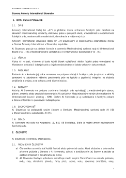 Aktuálne znenie stanov AI Slovensko 05/2014
