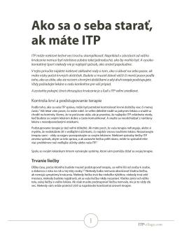Ako sa o seba starať, ak máte ITP