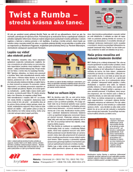 Článok - Twist a Rumba – strecha krásna ako tanec /pdf