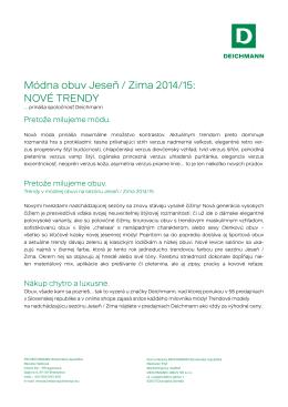 Módna obuv Jeseň / Zima 2014/15: NOVÉ TRENDY