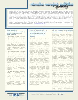 rómska verejná politika spravodaj máj 2011