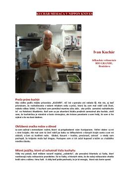 Kuchár Ivan- Kuchár mesiaca