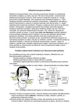 Základná koncepcia počítača Základný koncept počítača, ktorý