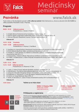 seminár - Falck SK