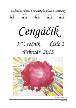 Február 2013 - ZŠ, Komenského ulica 3, Smižany