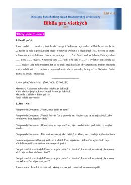Pracovný list č. 4